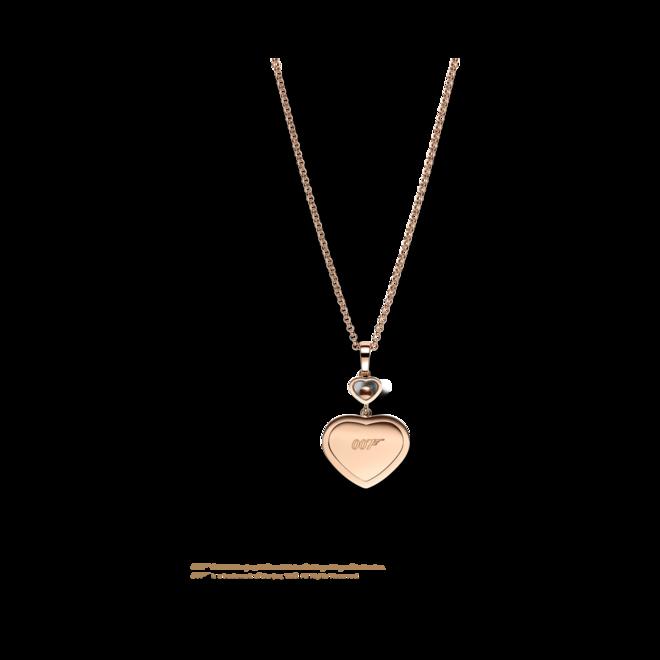 Halskette mit Anhänger Chopard Happy Hearts James Bond 007 aus 750 Roségold mit 45 Brillanten (0,24 Karat) bei Brogle