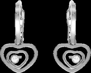 Ohrhänger Chopard Happy Hearts aus 750 Weißgold mit 2 Brillanten (2 x 0,05 Karat)