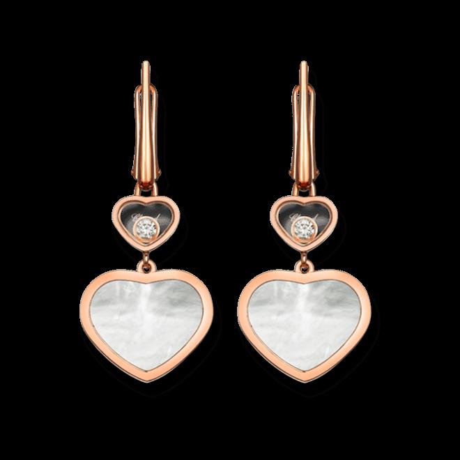 Ohrhänger Chopard Happy Hearts aus 750 Roségold und Perlmutt mit 2 Brillanten (2 x 0,05 Karat) bei Brogle