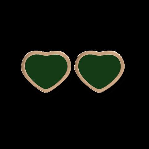 Ohrstecker Chopard Happy Hearts aus 750 Roségold mit 2 Achaten