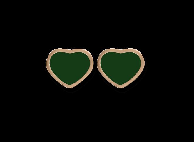 Ohrstecker Chopard Happy Hearts aus 750 Roségold mit 2 Achaten bei Brogle