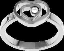 Ring Chopard Happy Hearts aus 750 Weißgold mit 1 Brillant (0,05 Karat)