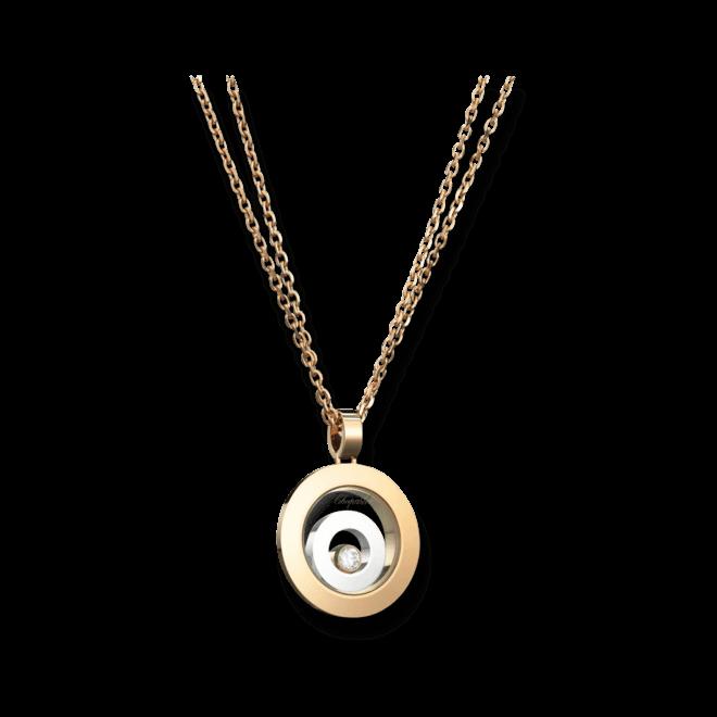 Halskette mit Anhänger Chopard Happy Spirit aus 750 Weißgold und 750 Roségold mit 1 Brillant (0,1 Karat)