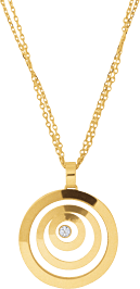 Halskette mit Anhänger Chopard Happy Spirit aus 750 Gelbgold mit 1 Brillant (0,1 Karat)