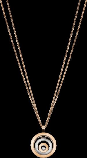 Halskette mit Anhänger Chopard Happy Spirit aus 750 Weißgold und Roségold mit 1 Brillant (0,1 Karat)