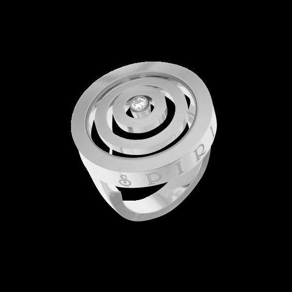 Ring Chopard Happy Spirit aus 750 Weißgold mit 1 Brillant (0,1 Karat)