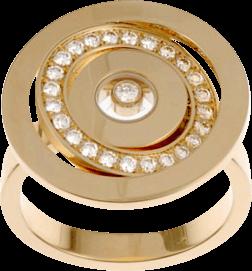 Ring Chopard Happy Spirit aus 750 Roségold mit 1 Brillant (0,05 Karat) Größe 55
