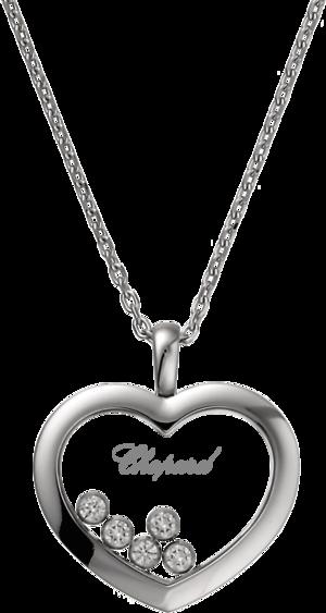 Halskette mit Anhänger Chopard Icons Heart aus 750 Weißgold mit 5 Brillanten (0,5 Karat)