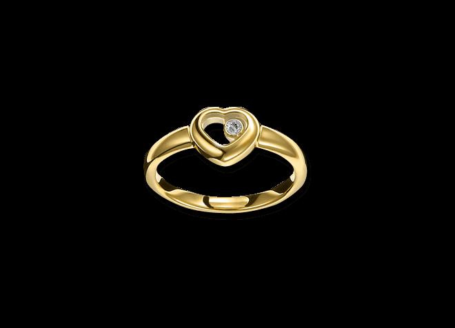 Ring Chopard Icons Heart aus 750 Gelbgold mit 1 Brillant (0,05 Karat) bei Brogle