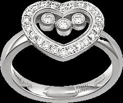 Ring Chopard Icons Heart aus 750 Weißgold mit 25 Brillanten (0,35 Karat)