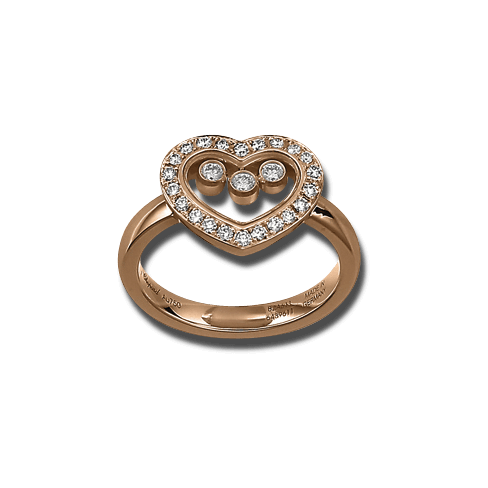 Ring Chopard Icons Heart aus 750 Roségold mit 25 Brillanten (0,35 Karat)