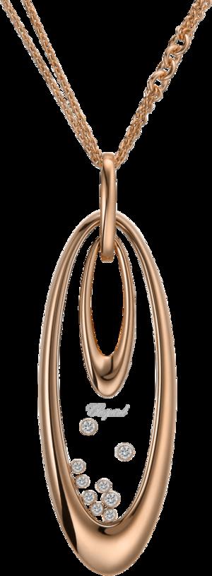 Halskette mit Anhänger Chopard Icons Oval aus 750 Roségold mit 9 Brillanten (0,35 Karat)