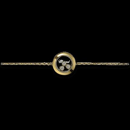 Armband Chopard Icons Round aus 750 Gelbgold mit 3 Brillanten (0,15 Karat)
