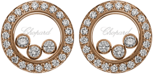 Ohrstecker Chopard Icons Round aus 750 Roségold mit 50 Brillanten (2 x 0,35 Karat)