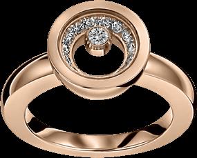 Ring Chopard Icons Round aus 750 Roségold mit 16 Brillanten (0,32 Karat) Größe 53