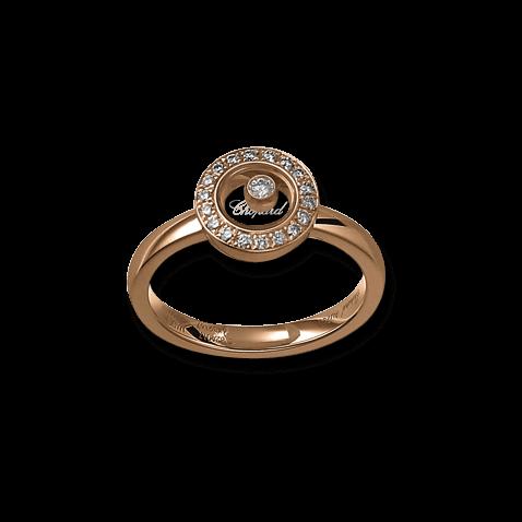 Ring Chopard Icons Round aus 750 Roségold mit 19 Brillanten (0,19 Karat)