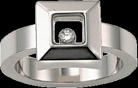 Ring Chopard Icons Square aus 750 Weißgold mit 1 Brillant (0,05 Karat)