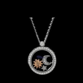 Chopard Halskette mit Anhänger Sonne, Mond und Sterne 799434-1401