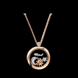 Chopard Halskette mit Anhänger Sonne, Mond und Sterne 799434-5201