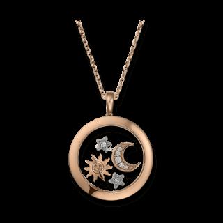 Chopard Halskette mit Anhänger Sonne, Mond und Sterne 799434-9901