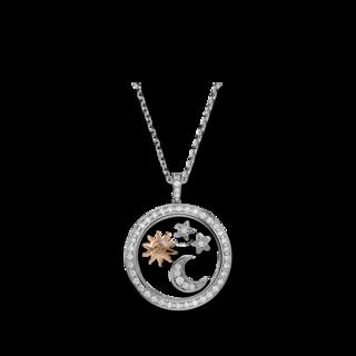 Chopard Halskette mit Anhänger Sonne, Mond und Sterne 799434-9905