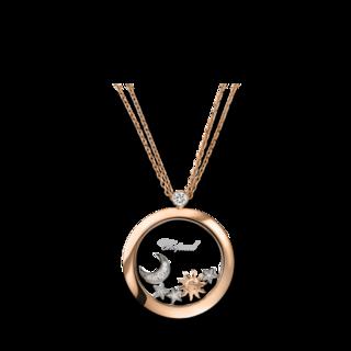 Chopard Halskette mit Anhänger Sonne, Mond und Sterne 799450-5201