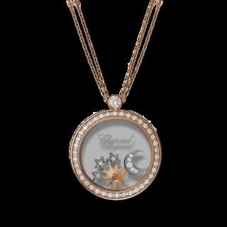 Chopard Halskette mit Anhänger Sonne, Mond und Sterne 799450-5401
