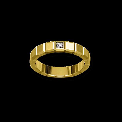 Ring Chopard Pure Medium aus 750 Gelbgold mit 1 Diamant (0,03 Karat)