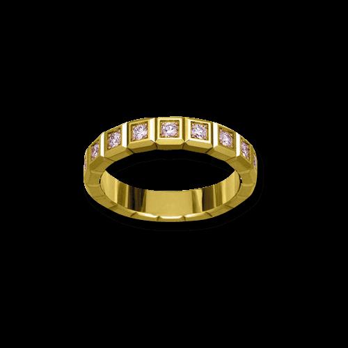 Ring Chopard Pure Medium aus 750 Gelbgold mit 16 Diamanten (0,62 Karat)
