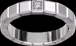 Ring Chopard Pure Medium aus 750 Weißgold mit 1 Diamant (0,03 Karat)