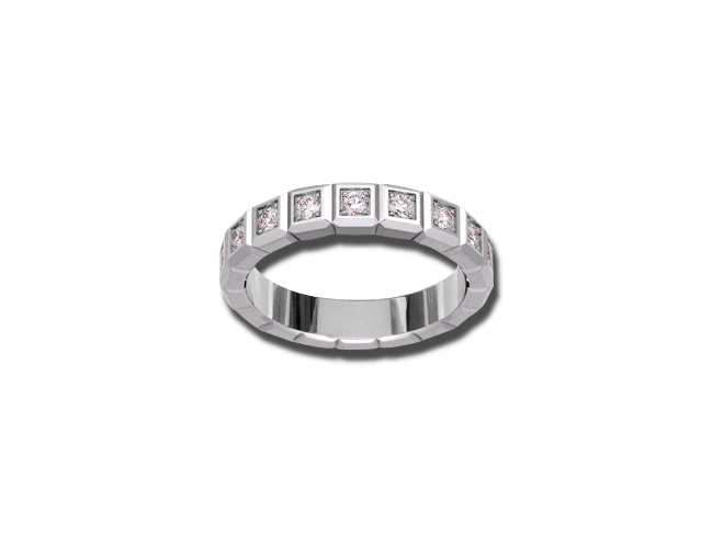 Ring Chopard Pure Medium aus 750 Weißgold mit 16 Diamanten (0,62 Karat) bei Brogle