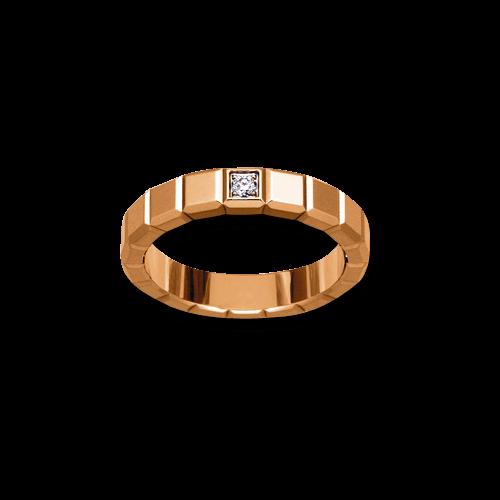 Ring Chopard Pure Medium aus 750 Roségold mit 1 Diamant (0,03 Karat)