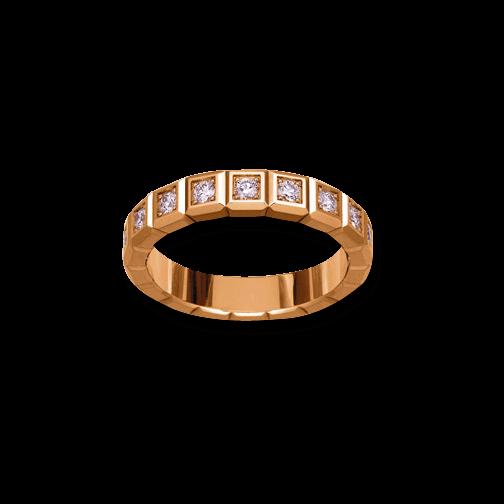 Ring Chopard Pure Medium aus 750 Roségold mit 16 Diamanten (0,62 Karat)