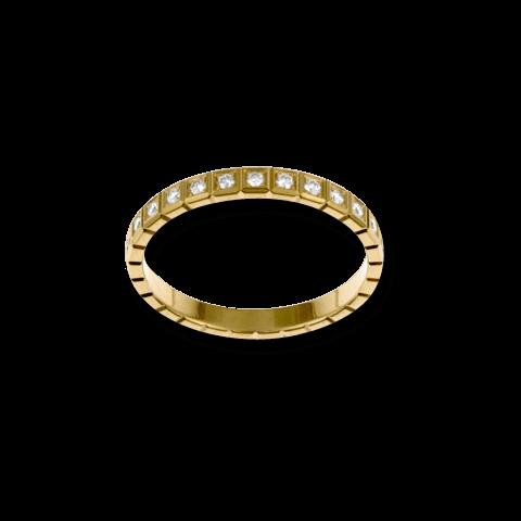 Ring Chopard Pure Mini aus 750 Gelbgold mit 25 Diamanten (0,24 Karat)