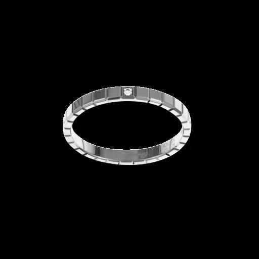 Ring Chopard Pure Mini aus 750 Weißgold mit 1 Diamant (0,01 Karat)