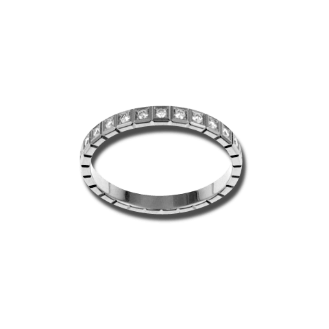 Ring Chopard Pure Mini aus 750 Weißgold mit 25 Diamanten (0,24 Karat)