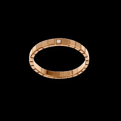 Ring Chopard Pure Mini aus 750 Roségold mit 1 Diamant (0,01 Karat)