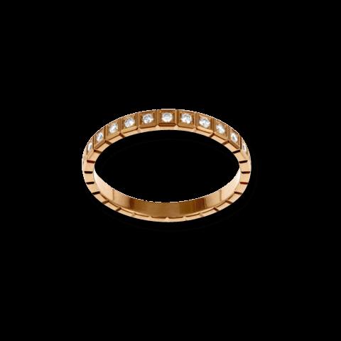 Ring Chopard Pure Mini aus 750 Roségold mit 25 Diamanten (0,24 Karat)