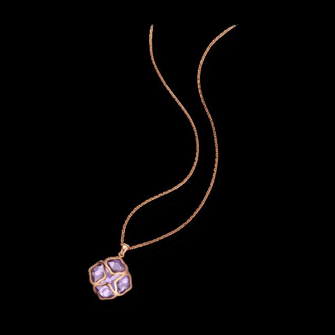 Halskette mit Anhänger Chopard Cocktail Jewellery aus 750 Roségold mit 1 Amethyst