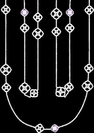Halskette Chopard Cocktail Jewellery aus 750 Weißgold mit 3 Amethysten