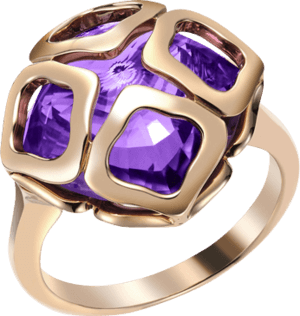 Ring Chopard Cocktail Jewellery aus 750 Roségold mit Amethyst