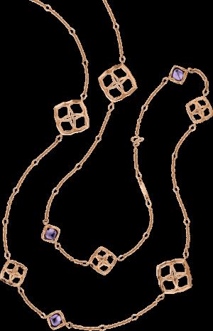 Halskette Chopard Lace Jewellery aus 750 Roségold mit 10 Amethysten