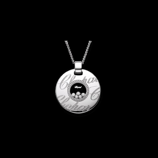 Halskette mit Anhänger Chopard Chopardissimo aus 750 Weißgold mit 166 Brillanten (1,14 Karat)