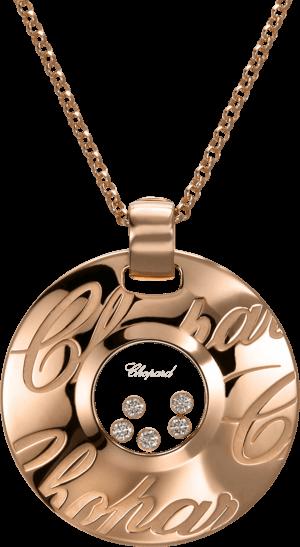 Halskette mit Anhänger Chopard Chopardissimo aus 750 Roségold mit 5 Brillanten (0,5 Karat)