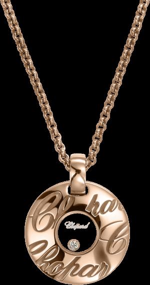 Halskette mit Anhänger Chopard Chopardissimo aus 750 Roségold mit 1 Brillant (0,03 Karat)