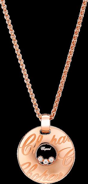 Halskette mit Anhänger Chopard Chopardissimo aus 750 Roségold mit 3 Brillanten (0,17 Karat)