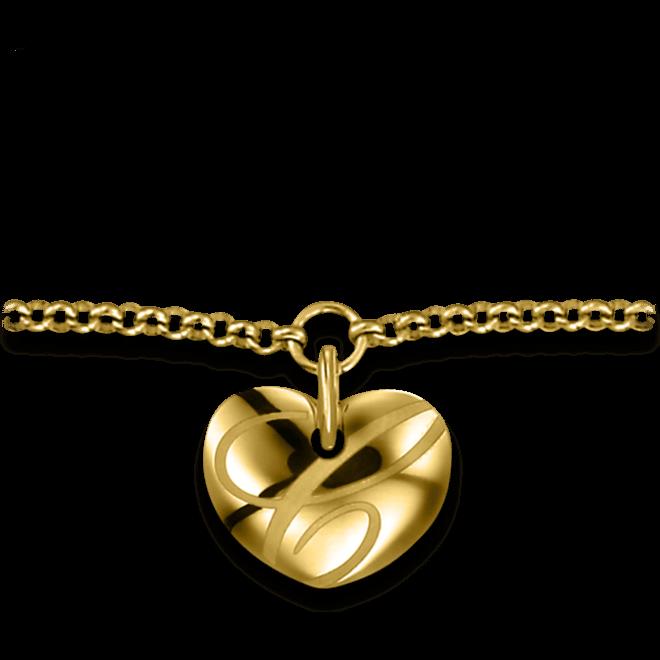 Armband mit Anhänger Chopard Chopardissimo Herz aus 750 Gelbgold