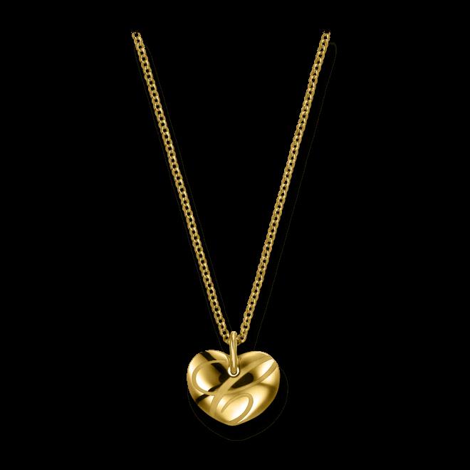 Halskette mit Anhänger Chopard Chopardissimo Herz aus 750 Gelbgold