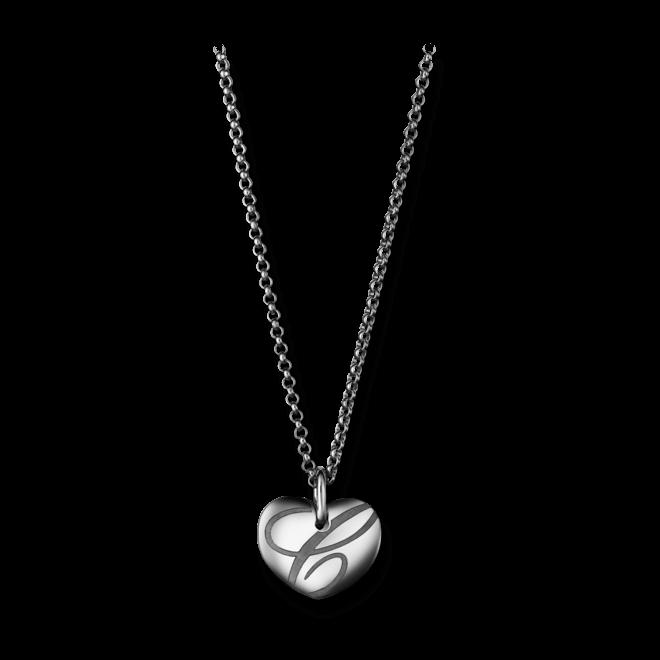 Halskette mit Anhänger Chopard Chopardissimo Herz aus 750 Weißgold