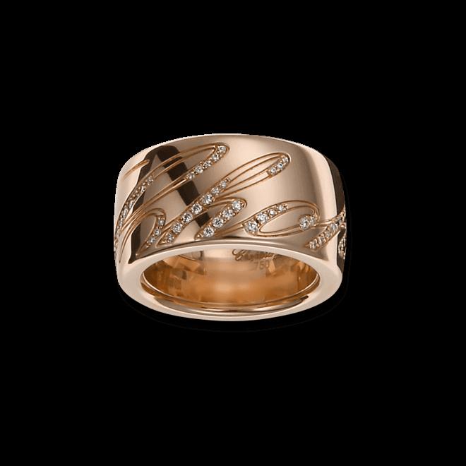 Ring Chopard Chopardissimo aus 750 Roségold mit mehreren Brillanten (0,28 Karat)
